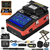 Mophorn Fiber Fusion Splicer Automatic Focus A-81S FTTH Fiber Precision Optical Fusion Splicer Kit 5 Inch TFT Digital LCD Screen Fusion Splicer Machine Optical Fiber Cleaver Kit (Color: 9s Splicing Time/26s Heat Time)