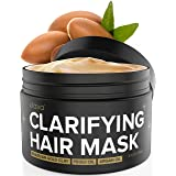 Xtava Clarifying Clay Hair Mask with Argan Oil - 8 Fl.Oz Hair Treatment for Dry Damaged and Oily Hair - Repairing and Conditioning Overnight Hair Clay Masks for Straight, Wavy, Curly, and Natural Hair (Tamaño: Full Size 8oz)