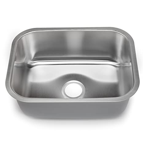 Hahn Chef Series SS006 23-Inch Undermount Single Bowl, Large