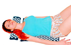 Zensufu Back Pain Relief Acupressure Massage Mat and Neck Pillow Set