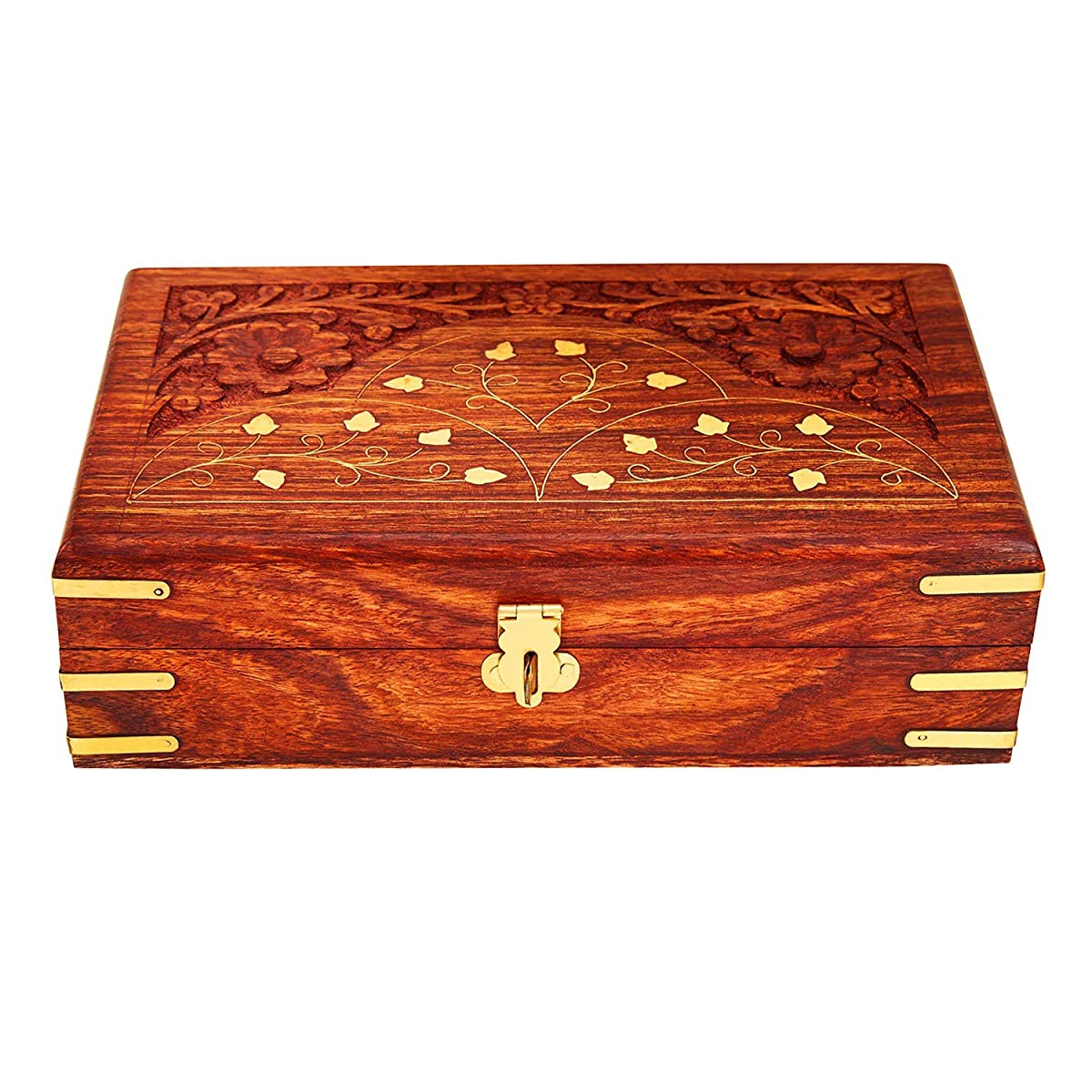 Handmade Wooden Jewelry Box With Free Lock Key Keepsake Box