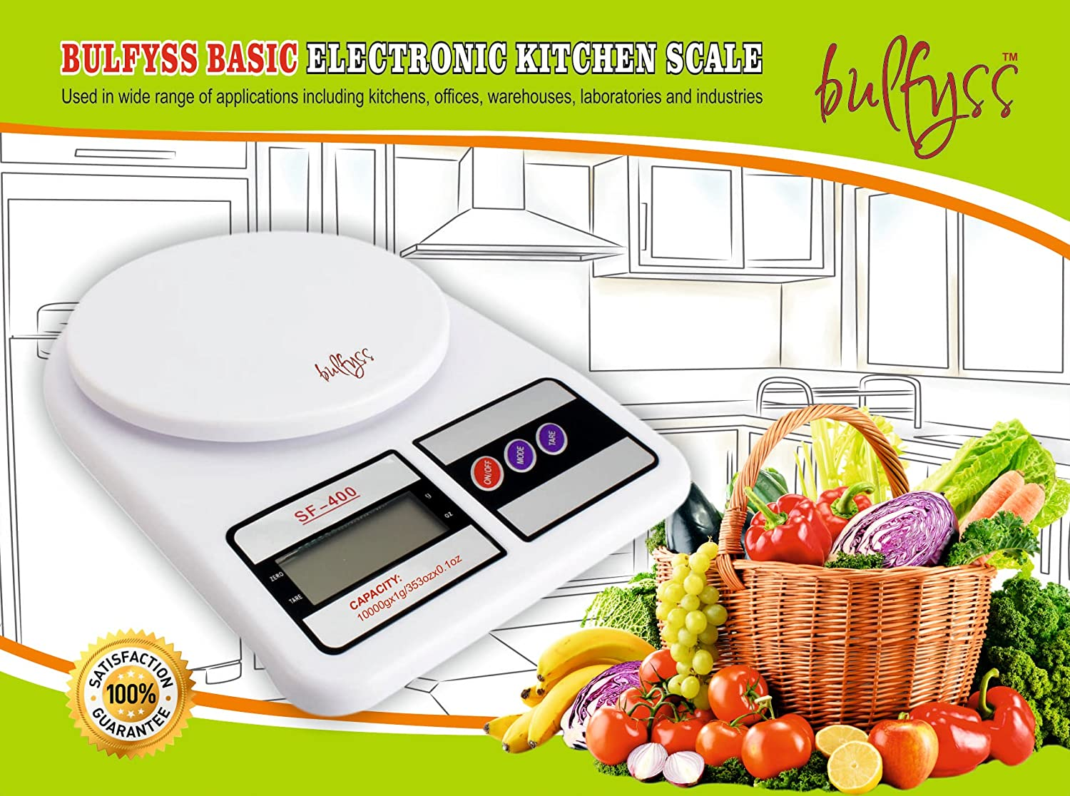 Small Kitchen Weighing Scales Buy Bulfyss Electronic Kitchen Digital Weighing Scale 10 Kg 1