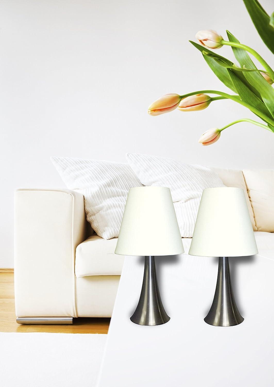 modern night stand table lamps set 2 touch sensor bedroom. Black Bedroom Furniture Sets. Home Design Ideas