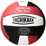 Tachikara SV18S Composite Leather Volleyball, Red/White/Black
