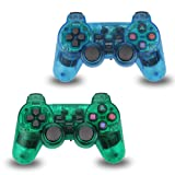 2pcs Pack Wireless Game Controller Double Shock Gamepad for Sony PS2 PlayStation 2
