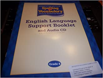 Houghton Mifflin Spelling and Vocabulary: English Language Support Booklet and Audio CD Grade 4