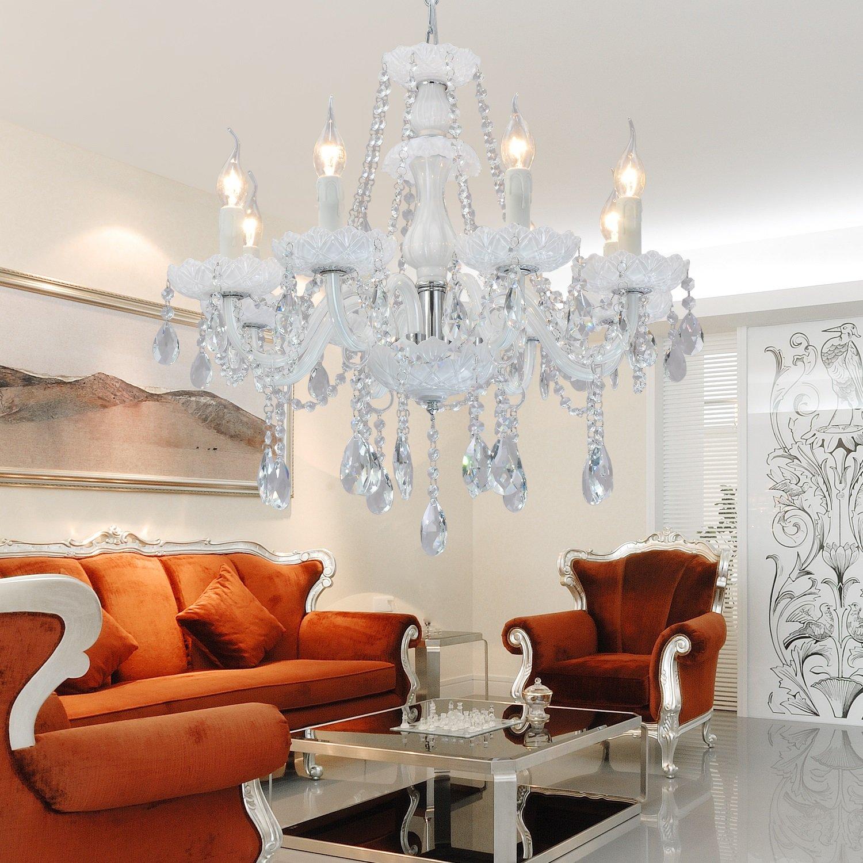 Kronleuchter Weiss Günstig : oofay light das elegante hochwertige kristallglas kristallleuchterlampe wohnzimmer 8 ~ Avissmed.com Haus und Dekorationen
