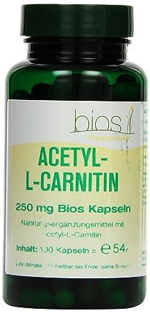 Bios Acetyl-L- Carnitin 250 mg, 100 Kapseln, 1er Pack (1 x 54 g)