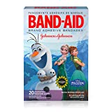 Band-Aid Brand Adhesive Bandages for Minor Cuts and Scrapes, Featuring Disney Frozen Characters, Assorted Sizes 20 ct (Color: Adhesive Bandages Latex Free, Tamaño: 20 Count)
