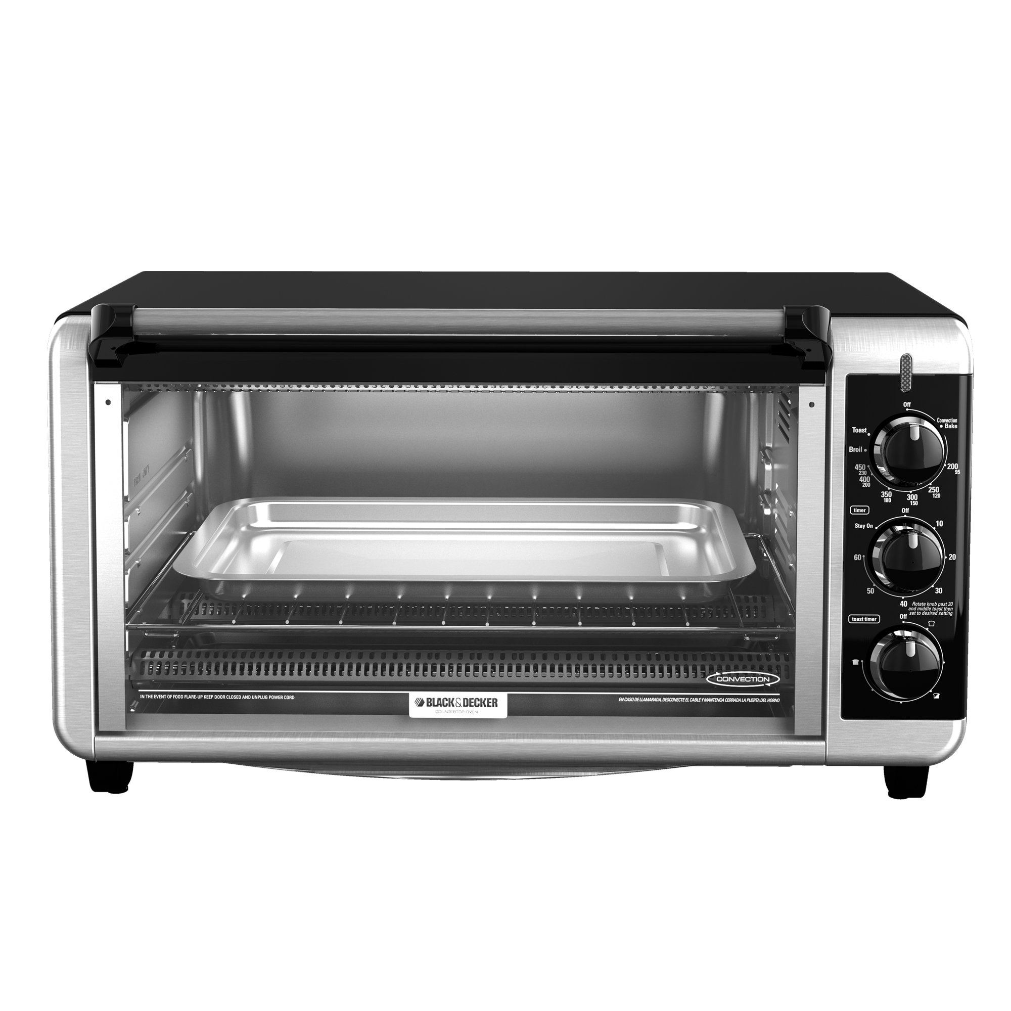 Black & Decker TO3250XSB 8-Slice Extra Wide Toaster Oven ...