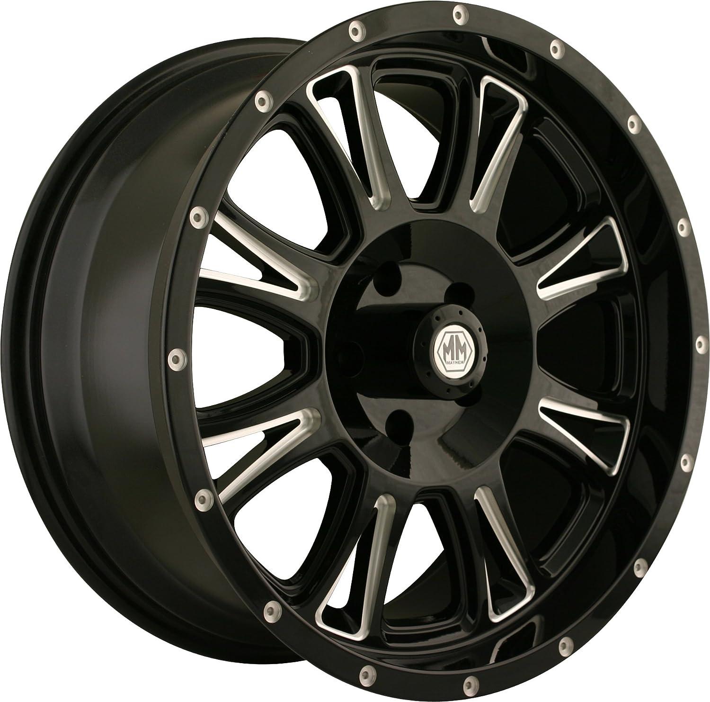 Mayhem 8050 Hammer Black Wheel with Milling Spokes (18x9/6x135mm) helo he866 gloss black wheel with chrome accents 20x8 5 6x135mm