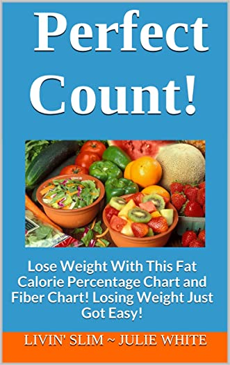 Perfect Count!: Lose Weight With This Fat Calorie Percentage Chart and Fiber Chart!  Losing Weight Just Got Easy! (Livin' Slim Book 3)