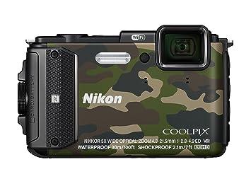 """Nikon Coolpix AW130 Appareil photo numérique compact 16 Mpix Écran LCD 3"""" Zoom optique 5X Camouflage"""