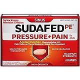 SUDAFED PE Pressure + Pain Maximum Strength Caplets for Adults 24 ea (7 Pack)