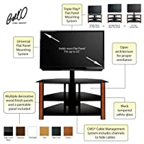 Bell'O TPC2127 Triple Play Fits Up To 55-Inch TV (Black)