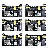 UCEC MB102 3.3V/5V Breadboard Power Supply Module for Arduino Board Solderless Breadboard (Pack of 6) (Color: 6 Pack, Tamaño: 6pack)