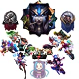 League of Legends Sticker Pack 20-Pcs, GTOTd Sticker Decals Vinyls for Laptop,Kids,Cars,Motorcycle,Bicycle,Skateboard Luggage,Bumper Stickers Hippie Decals Bomb Waterproof(Not Random) (Color: League of Legends sticker)