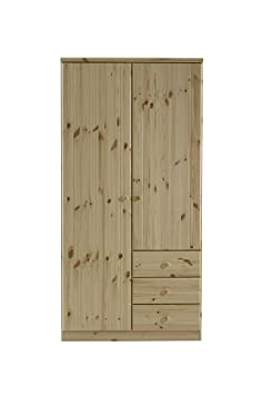 Steens Robe 3-Door 3-Drawer Natural Finish, Naural Pine