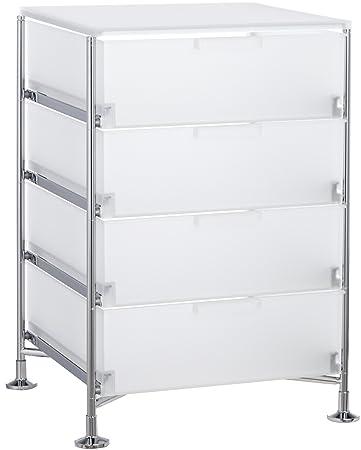 Kartell 2025L1 - Mueble con 4 cajones, color blanco