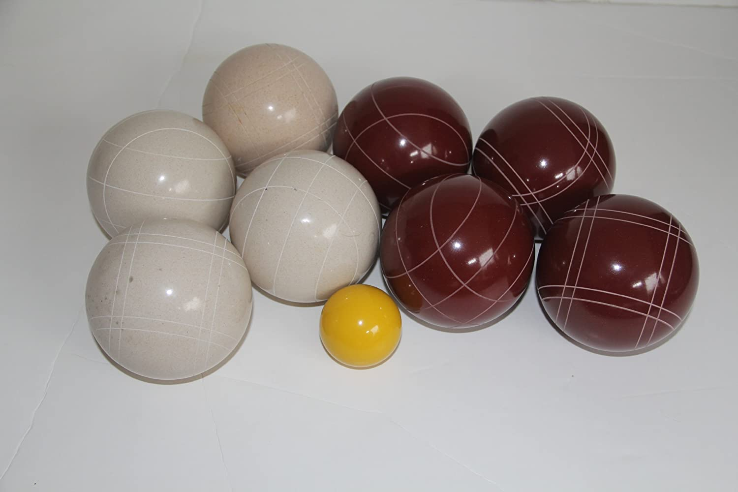 Premium Quality EPCO Tournament Bocce Set - 107mm Red and White Bocce Balls -...