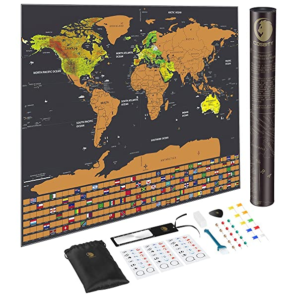 Scratch off map of the world with us states and country flags scratch off map of the world with us states and country flags world map including flags map push pins gumiabroncs Images