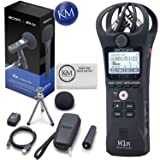 Zoom H1n Handy Recorder Bundle with Zoom APH-1n Accessory Pack and K&M Micro Fiber Cloth