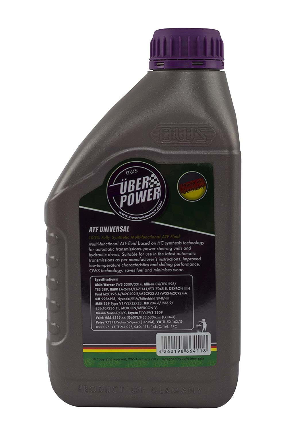 Ows Atf Universal Fully Synthetic Automatic Transmission Fluid, 1000 Ml:  Amazon: Car & Motorbike
