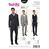 Burda Style 6871 Steampunk Men's Suit and Vest Sewing Pattern Sizes 34-50 (Tamaño: 34-50)
