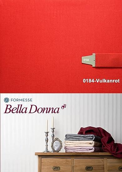 Bella Donna sábana bajera 180/200 - 200/220 cm - 0184 (volcán rojo)