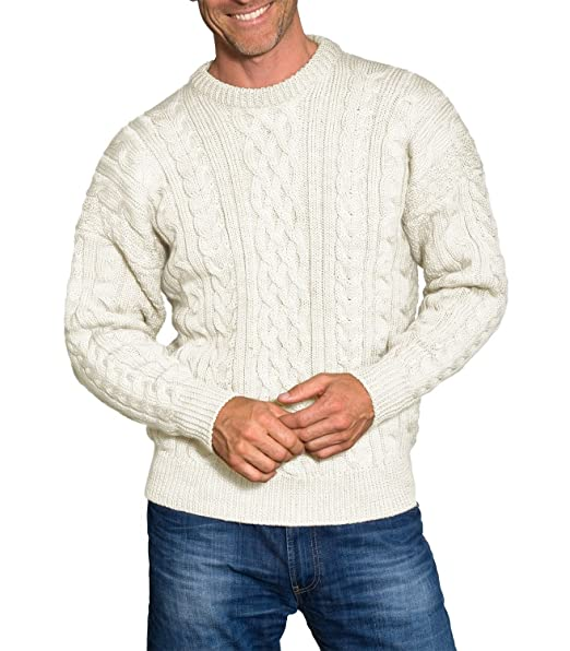 Cream aran sweater