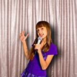 PartyDelight Not See-Through Sequin Backdrop 4FTX6.5Ft Champagne for Wedding Curtain, Party, Photo Booth. (Color: Satin Champagne, Tamaño: 4X6.5)