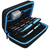 TAKECASE New 3DS XL and 2DS XL Carrying Case - Fits Wall Charger - Includes XL Stylus, 16 Game Storage, Hard Shell and Accessories Pocket (Light Blue) (Color: Light Blue)