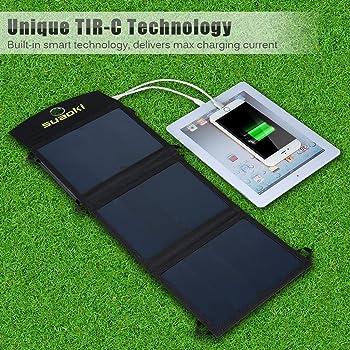 Suaoki Dual USB Port Solar Phone Charger