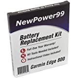Garmin Edge 800 Battery Replacement Kit with Installation Video, Tools, and Extended Life Battery