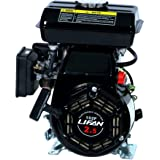 Lifan LF152F-3Q 3 HP 97.7cc 4-Stroke OHV Industrial Grade Gas Engine with 18mm Keyway Shaft, Recoil Start and Universal Mounting Bolt Patterns