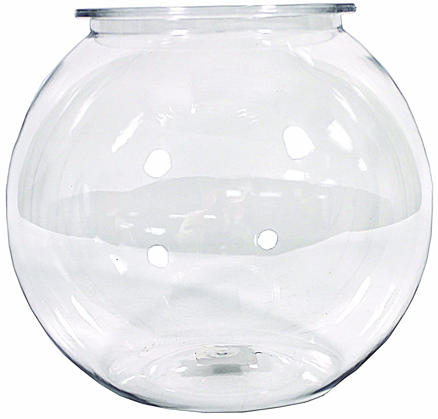 Tom tominaga oscar atobl15rpet plastic bowl round 1 5 for 2 gallon fish bowl