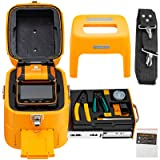 Mophorn AI-9 Fiber Fusion Splicer with 5 Seconds Splicing Time Melting 15 Seconds Heating 7800mah Fusion Splicer Machine Optical Fiber Cleaver Kit for Optical Fiber & Cable Projects (Color: 5s Splicing Time/15s Heat Time)