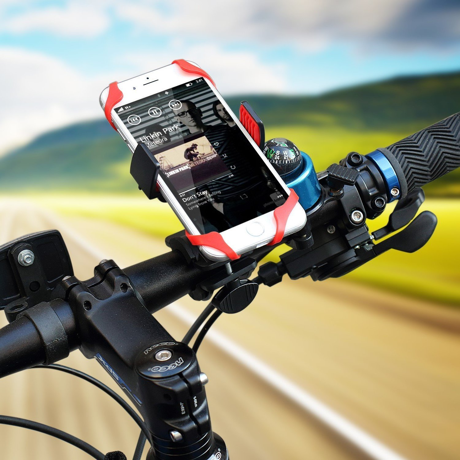 Bike Mount, HamFire Universal Smartphone Bicycle Handlebar & Motorcycle Holder Cradle for iPhone 6s /6 /5s /5c/5,Samsung Galaxy S5/S4/S3, Google Nexus 5/4, LG G3, HTC and GPS Device