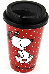 Snoopy - Taza para llevar, color rojo   Comentarios y más información