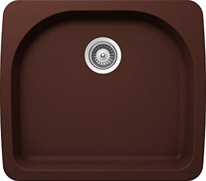 SCHOCK VALN100T009 VALLEY Series CRISTALITE Undermount Single Bowl Kitchen Sink, Copper