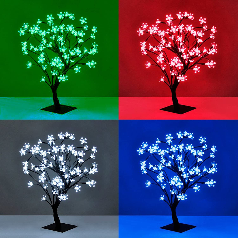 45 Cm Pre Lit 60 LED Lights Cherry Blossom Tree Christmas Tree Indoor Outdoor