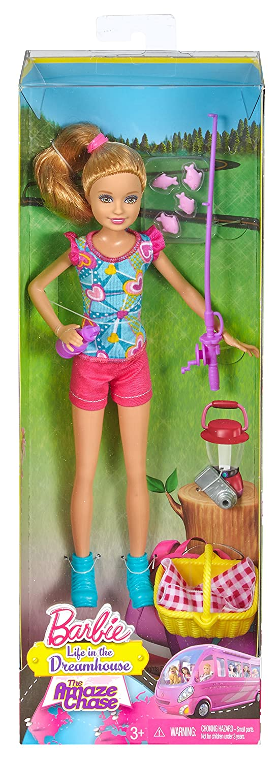 Barbie sisters camping stacie doll fishing picnic pink for Barbie fishing pole