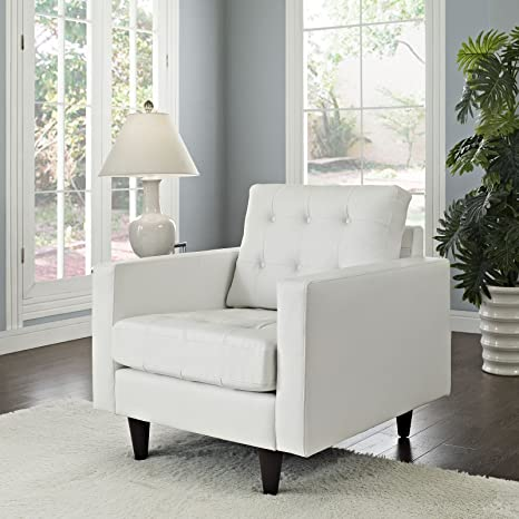 Empress Leather Armchair, White