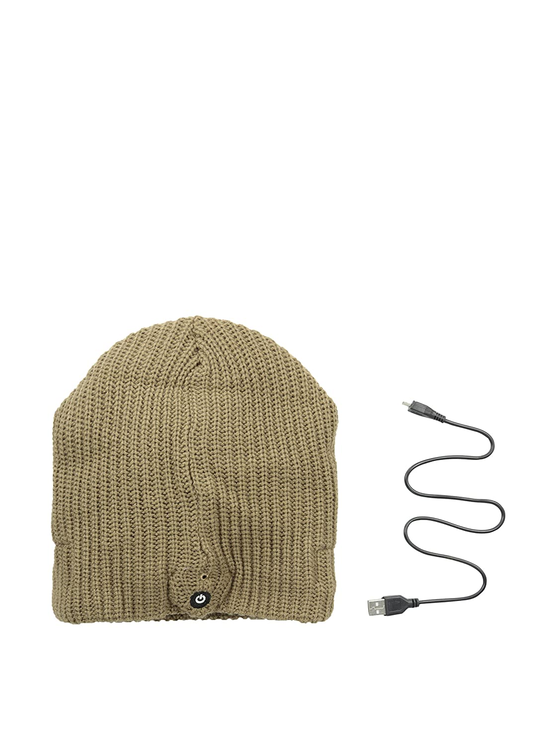 1 Voice - The Original Bluetooth Beanie with Built-in Wireless Headphones - Light Brown