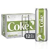 Diet Coke Ginger Lime Soda Soft Drink, 12 fl oz, 8 Pack (Tamaño: 12  Ounces)