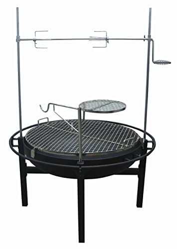 Fire Pit Charcoal Grill with Rotisserie