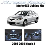 XtremeVision Mazda 3 MS3 2004-2009 (10 Pieces) Cool White Premium Interior LED Kit Package + Installation Tool