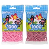 Perler Bead Bag 1000, Bundle of Cotton Candy and Rose (2 Pack) (Color: Cotton Candy & Rose)