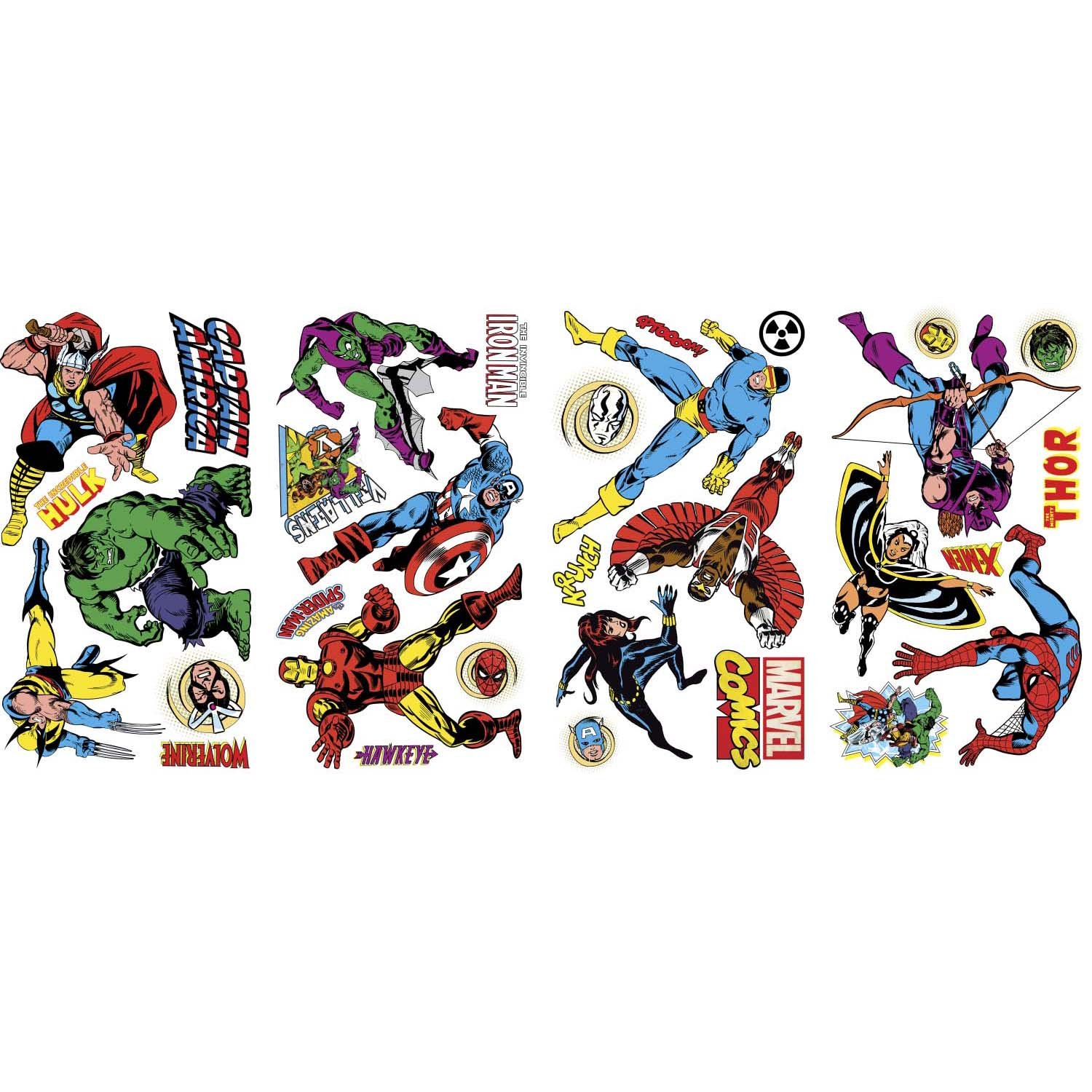 Marvel Heroes Bedroom Decor Roommates Marvel Character Wall Decals Multi Color Amazonin Baby