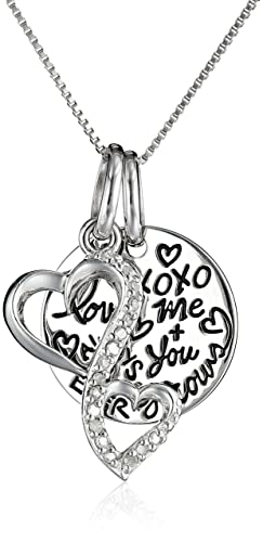 Sterling-Silver-Diamond-Accent-Double-Heart-Love-Grows-XOXO-You-and-Me-Always-and-4-Ever-with-Circle-Graffiti-Charm-Pendant-Necklace-18-